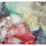 Astride the Whisper of Chaos 1, watercolor on plastic, by Hunter Wild